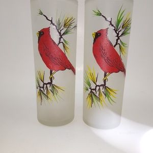 Other - Set of beautiful hand painted vintage glasses
